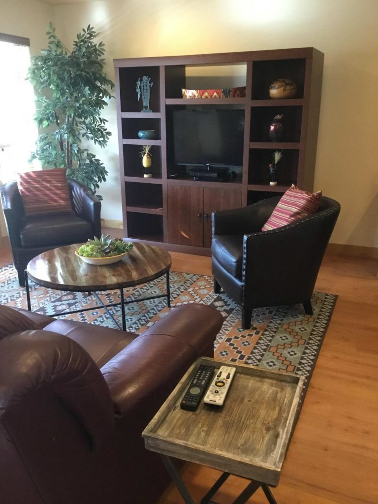Living Room at Zion River Resort RV Park & Campground